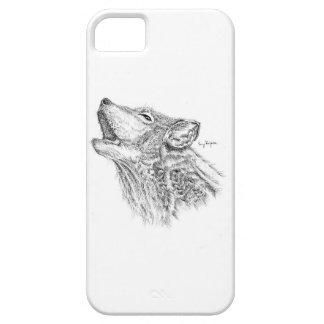 Caja del teléfono del lobo de Blackwork Funda Para iPhone SE/5/5s