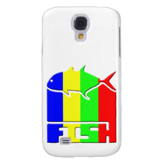 Caja del teléfono del logotipo de los PESCADOS Funda Para Galaxy S4