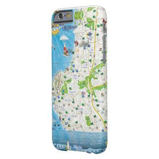 Caja del teléfono del mapa de La Jolla Funda Barely There iPhone 6