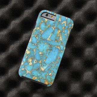 Caja del teléfono del modelo de la turquesa funda resistente iPhone 6