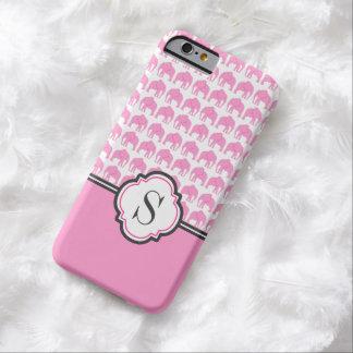 Caja del teléfono del modelo del elefante rosado funda para iPhone 6 barely there