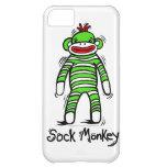 Caja del teléfono del mono del calcetín