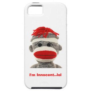 Caja del teléfono del mono IPHONE 5 del calcetín Funda Para iPhone 5 Tough