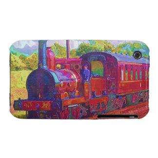 caja del teléfono del motor del tren del vapor de  iPhone 3 Case-Mate cárcasa