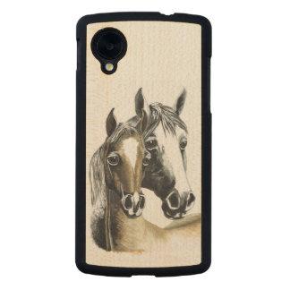 caja del teléfono del nexo 5 de Google del caballo Funda De Nexus 5 Carved® De Arce