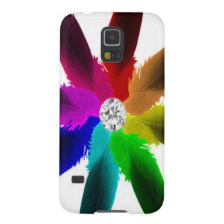 Caja del teléfono del nexo de Samsung - arco iris Carcasa De Galaxy S5