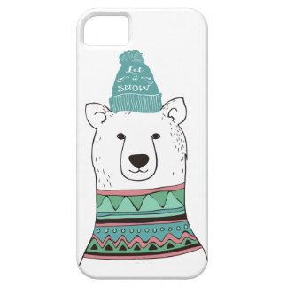 Caja del teléfono del oso polar funda para iPhone SE/5/5s