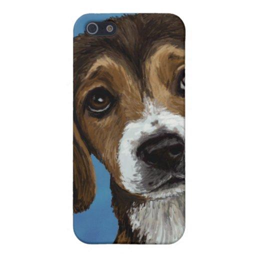 Caja del teléfono del perrito del beagle iPhone 5 coberturas