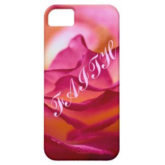 Caja del teléfono del pétalo color de rosa iPhone 5 carcasas