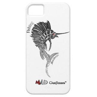 Caja del teléfono del pez volador de la pesca iPhone 5 Case-Mate cárcasa