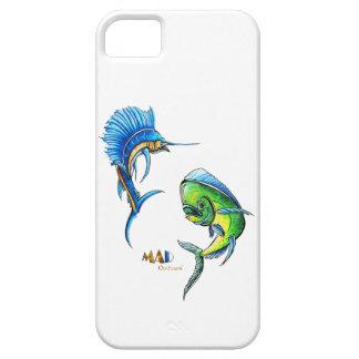 Caja del teléfono del pez volador y del delfín iPhone 5 protector