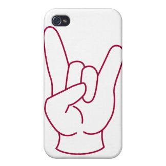 Caja del teléfono del puño de la roca iPhone 4 carcasa