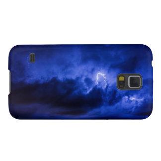 Caja del teléfono del relámpago del cielo azul funda galaxy s5