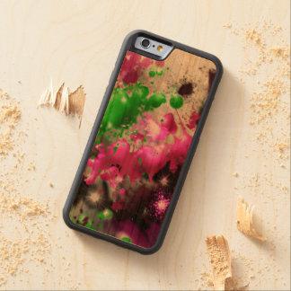 Caja del teléfono del salpicón del color funda de iPhone 6 bumper cerezo