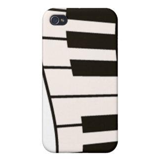 Caja del teléfono del teclado de piano iPhone 4/4S fundas