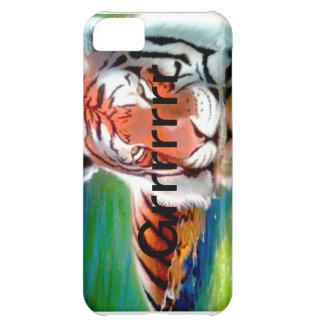 Caja del teléfono del tigre - arte original de enc funda para iPhone 5C