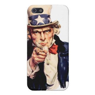 Caja del teléfono del tío Sam iPhone 5 Carcasa