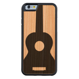 Caja del teléfono del Ukulele Funda De iPhone 6 Bumper Cerezo