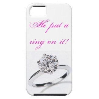 ¡caja del teléfono iphone5 él puso un anillo en é iPhone 5 Case-Mate cárcasa