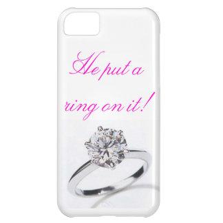 ¡caja del teléfono iphone5 él puso un anillo en é