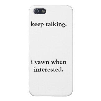 Caja del teléfono Keep que habla iPhone 5 Carcasas