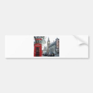 Caja del teléfono Londres Big Ben (St.K) Pegatina Para Auto