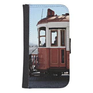 Caja del teléfono móvil de la tranvía de Lisboa Fundas Tipo Billetera Para Galaxy S4