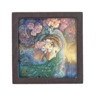 Caja del tesoro del deslumbramiento del pavo real caja de recuerdo de calidad