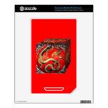 Caja del tesoro del dragón por los sharles calcomanía para el NOOK color