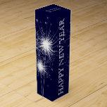 Caja del vino de la Feliz Año Nuevo en marina de Caja De Vino