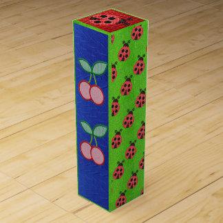 caja del vino de la mariquita de la cereza caja para bino