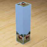 Caja del vino de la vaca de la montaña caja para botella de vino