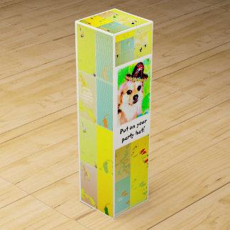 Caja del vino del gorra del fiesta caja para bino