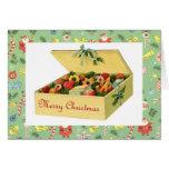 Caja del vintage de galletas Notecard del navidad Tarjetas
