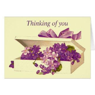 Caja del vintage de tarjeta de felicitación de las