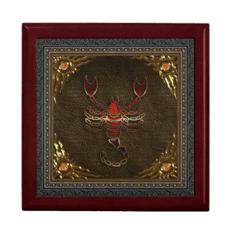 Caja del zodiaco - escorpión joyero cuadrado grande