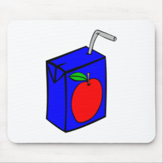 Caja del zumo de manzana mousepads