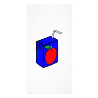 Caja del zumo de manzana tarjeta fotográfica personalizada