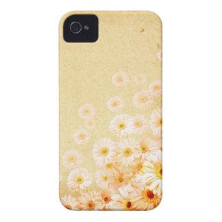 Caja delicada anaranjada de Iphone 4S de la flor iPhone 4 Case-Mate Cárcasa