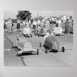 Caja Derby, 1940 del jabón. Foto del vintage Póster