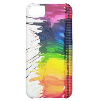 Caja derretida arco iris del iPhone 5 del arte del