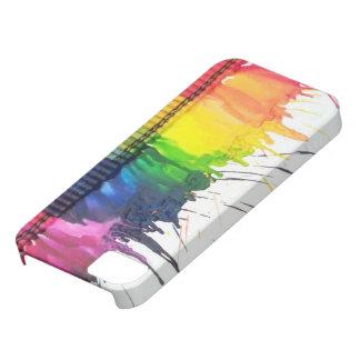 Caja derretida arco iris del iPhone 5 del arte del iPhone 5 Funda