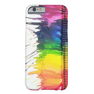 Caja derretida arco iris del iPhone 6 del arte del Funda Para iPhone 6 Barely There