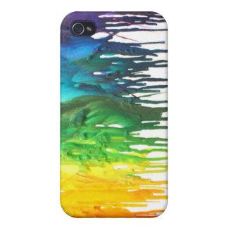 Caja derretida de Iphone del creyón iPhone 4 Cárcasas