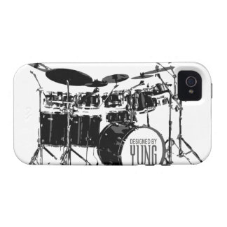 Caja determinada del teléfono del tambor iPhone 4/4S funda
