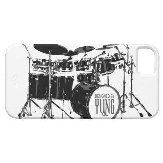 Caja determinada del teléfono del tambor iPhone 5 funda