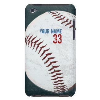 Caja diseñada vintage de la bola del béisbol barely there iPod carcasas