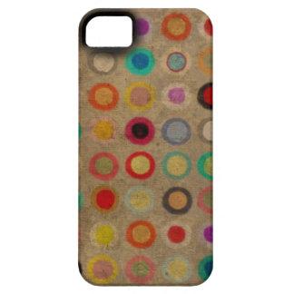 Caja divertida caprichosa de los círculos funda para iPhone SE/5/5s