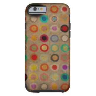 Caja divertida caprichosa de los círculos funda resistente iPhone 6