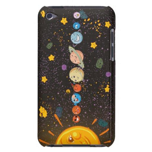 Caja divertida de iPod de los planetas de la Siste Barely There iPod Fundas